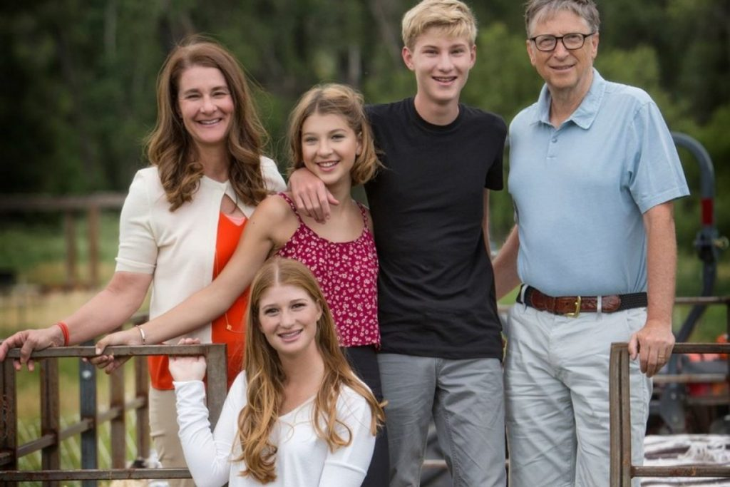 rory john gates and whole bill gates family