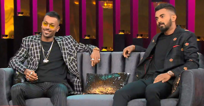 koffee with karan hardik pandya and kl rahul